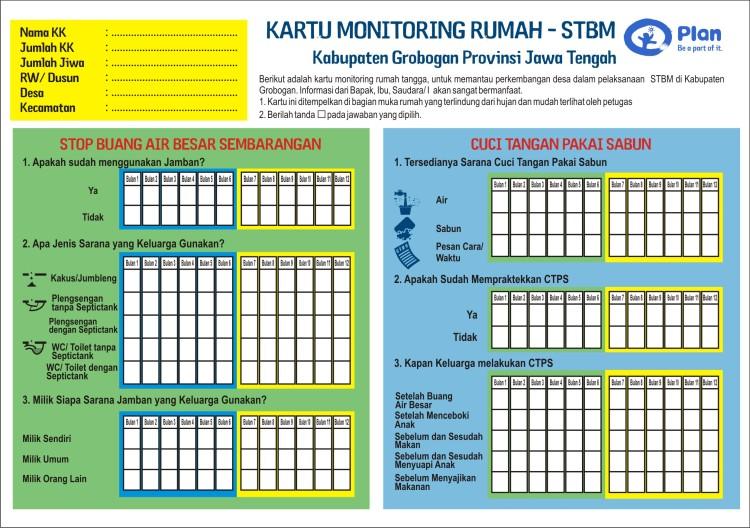 kartu Monitoring Rumah STBM_muka 1