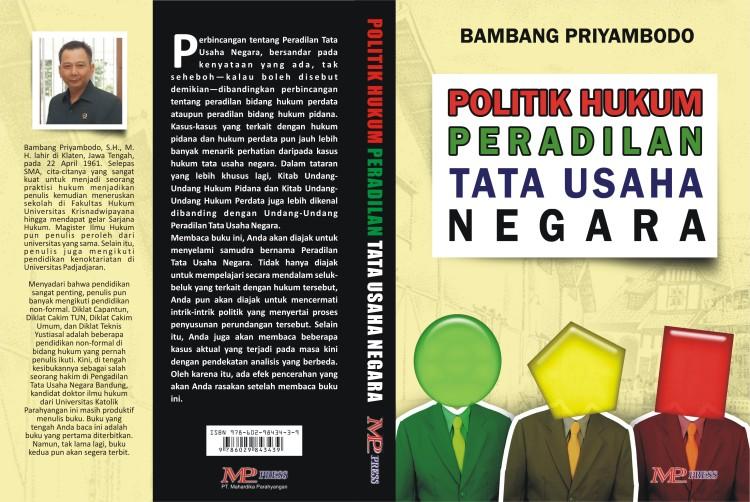 Cover Buku Politik Hukum Peradilan TataUsaha Negara